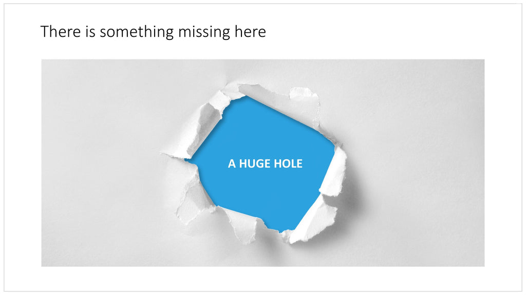 Paper hole in PowerPoint
