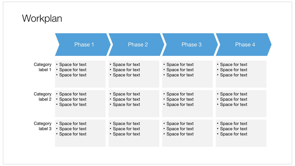 Workplan in Apple Keynote