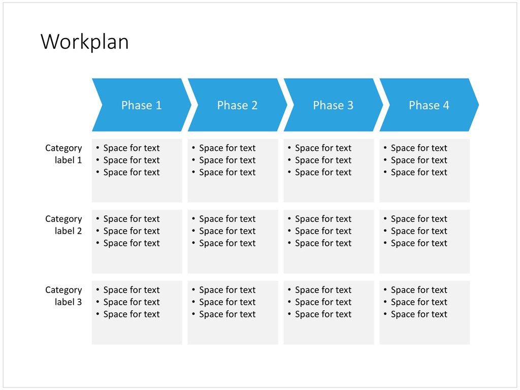 a work plan in powerpoint  4 phases   u2013 slidemagic