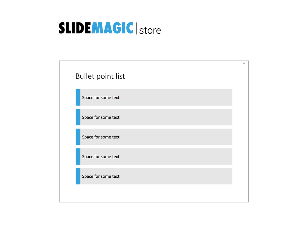 5 bullet points in PowerPoint
