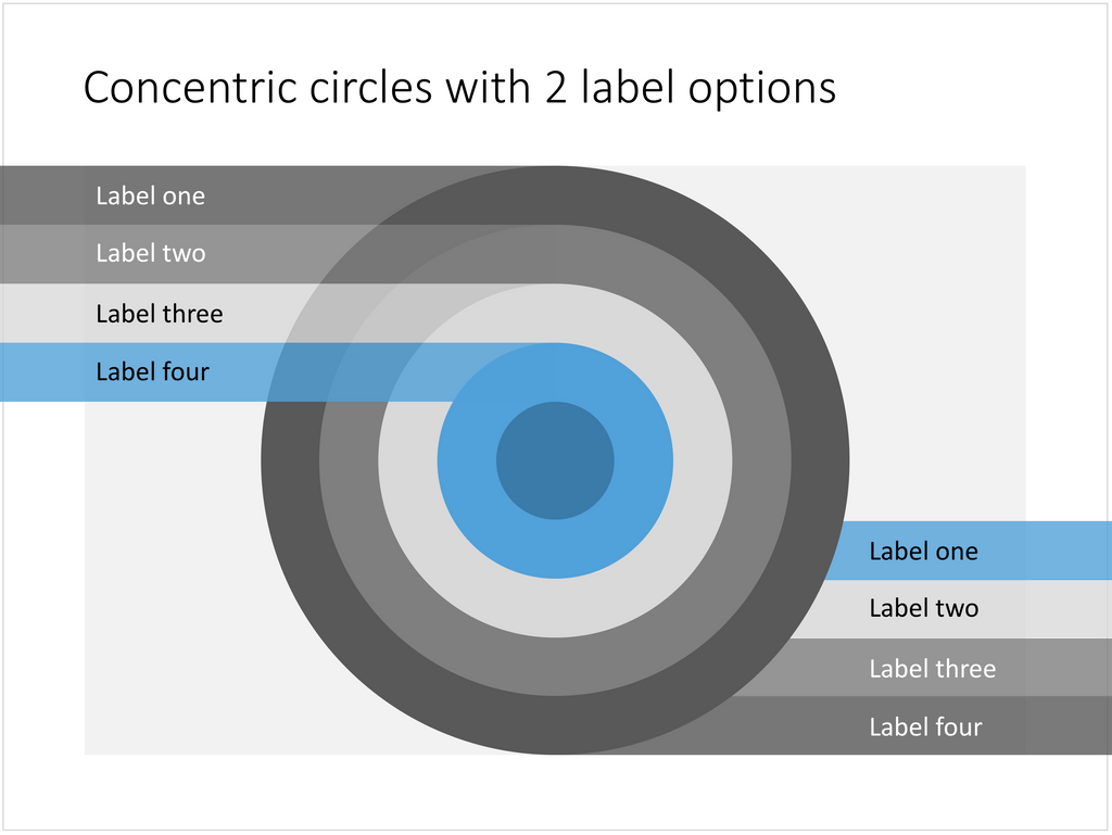 powerpoint slide with concentric circles  u2013 slidemagic
