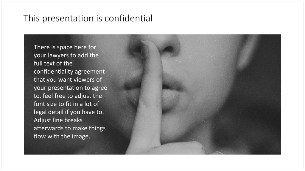Confidential slide in PowerPoint