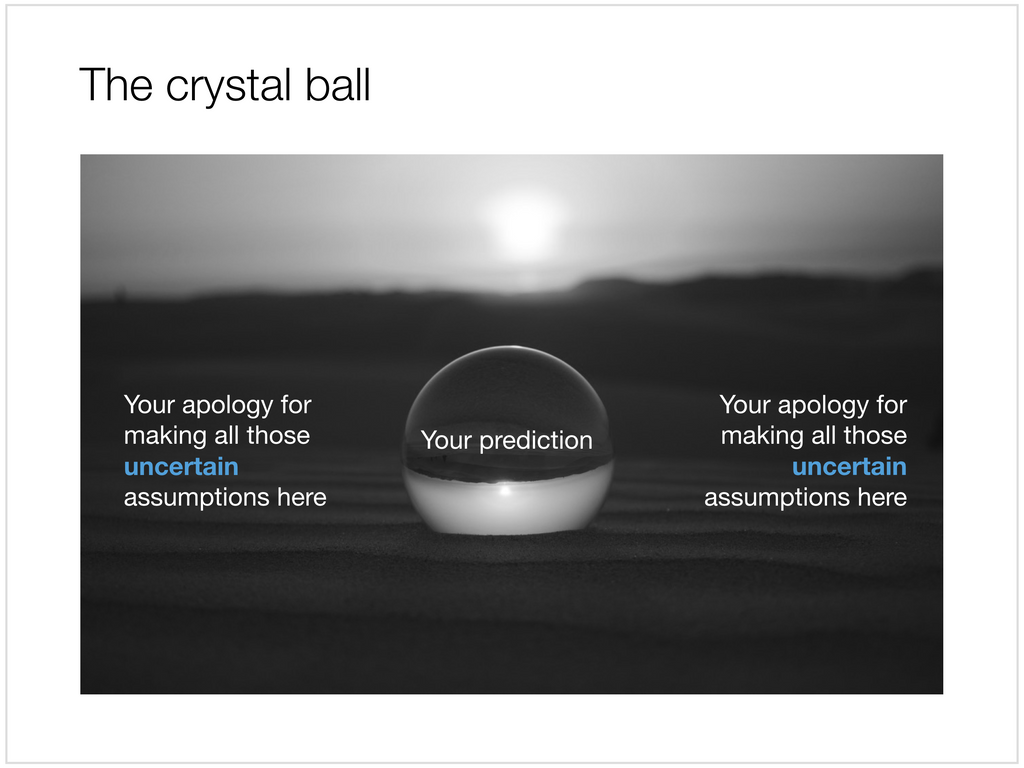 Crystal ball in Apple Keynote