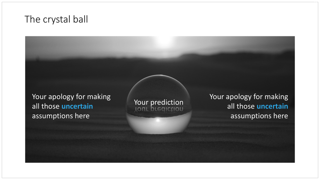 Crystal ball in PowerPoint