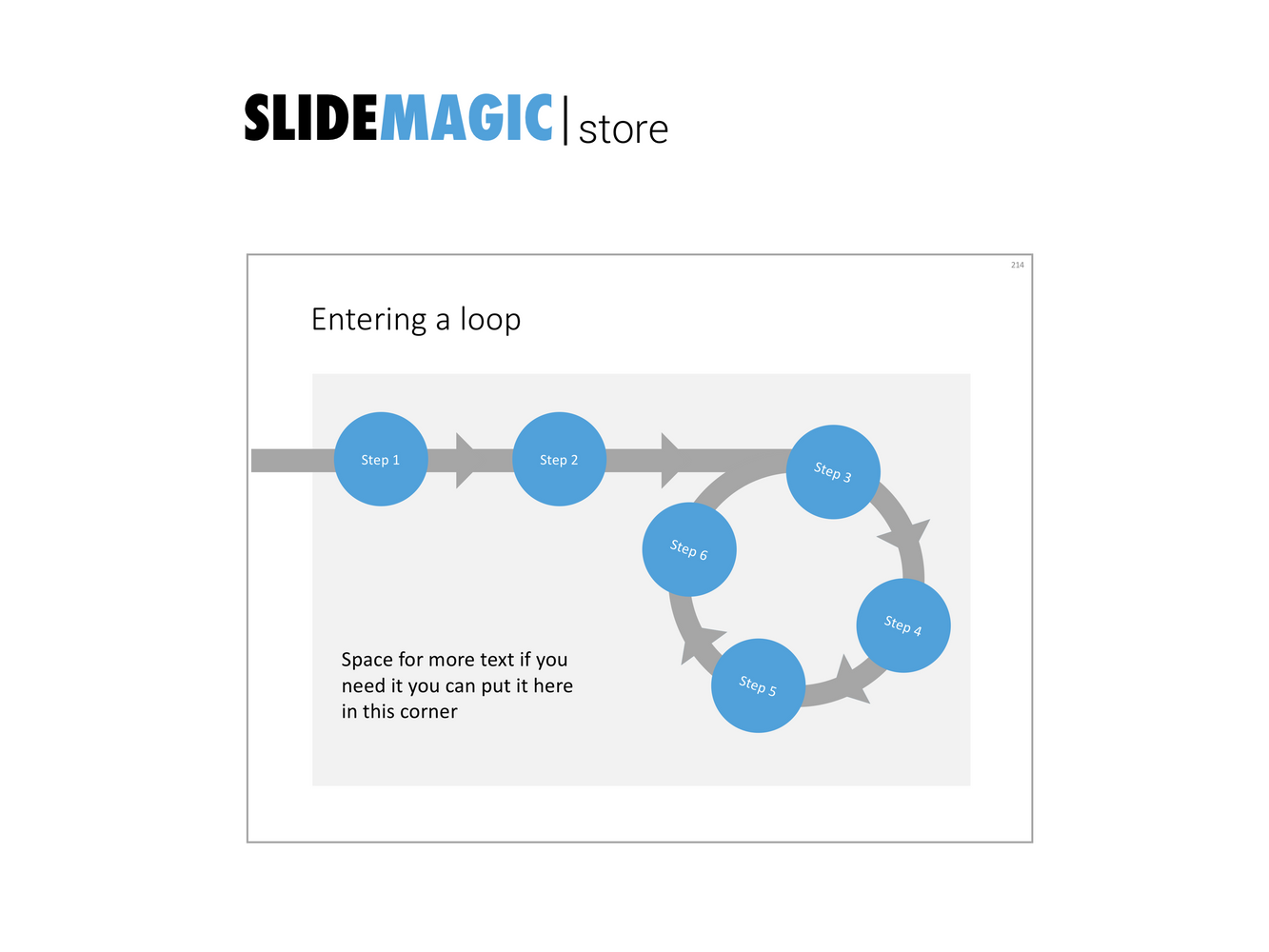 A presentation slide template with a loop