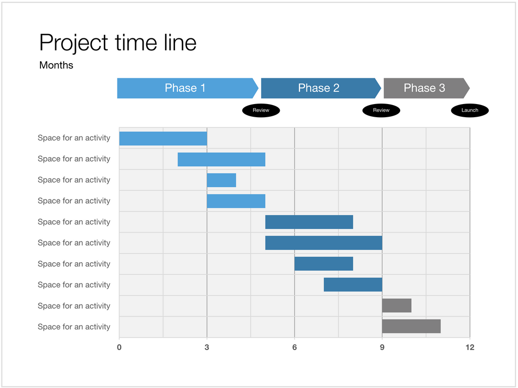Apple Keynote Gantt - 4:3 aspect