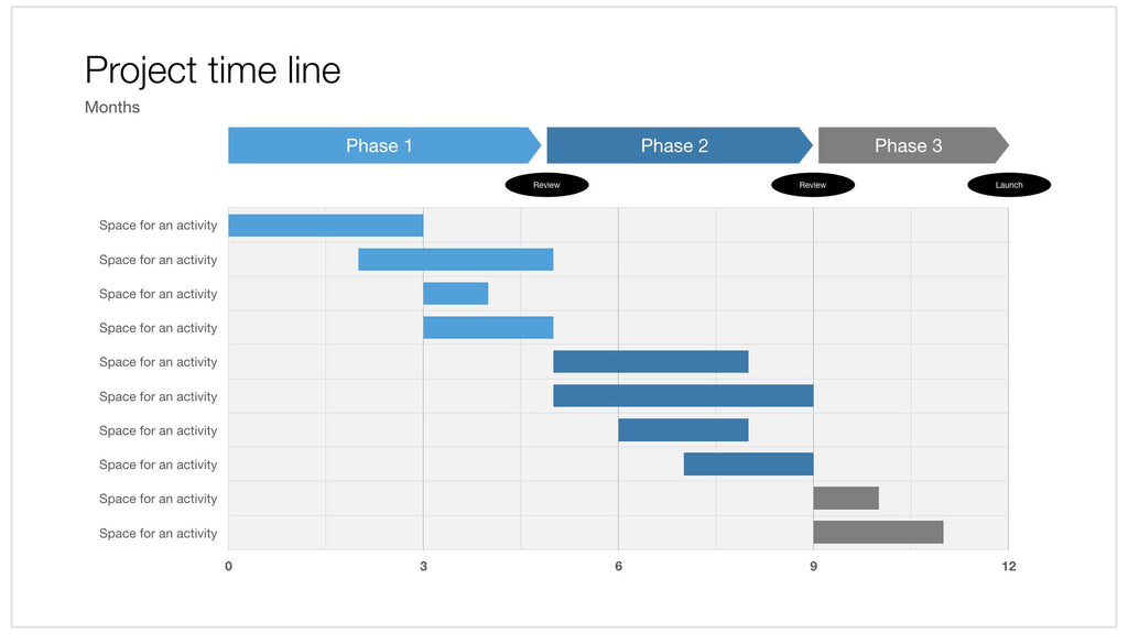 Apple Keynote Gantt - 16:9 aspect