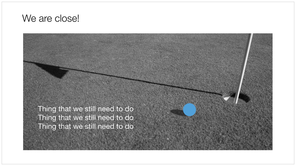 Golf ball in Apple Keynote