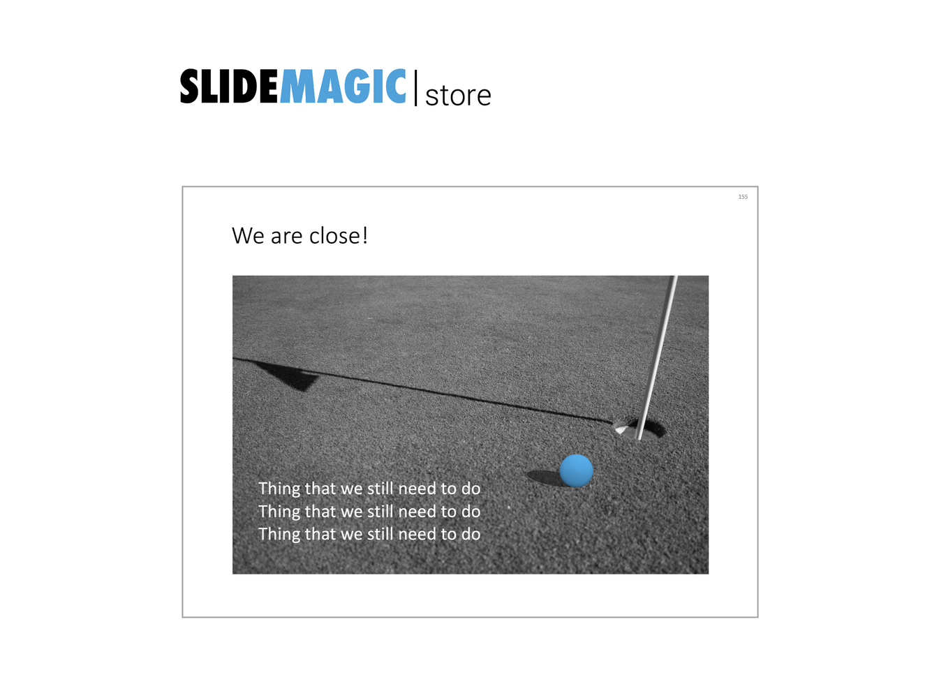 Golf ball in PowerPoint