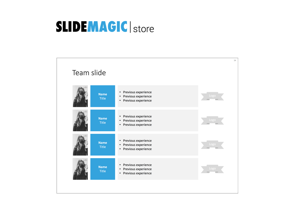 Team slide in PowerPoint