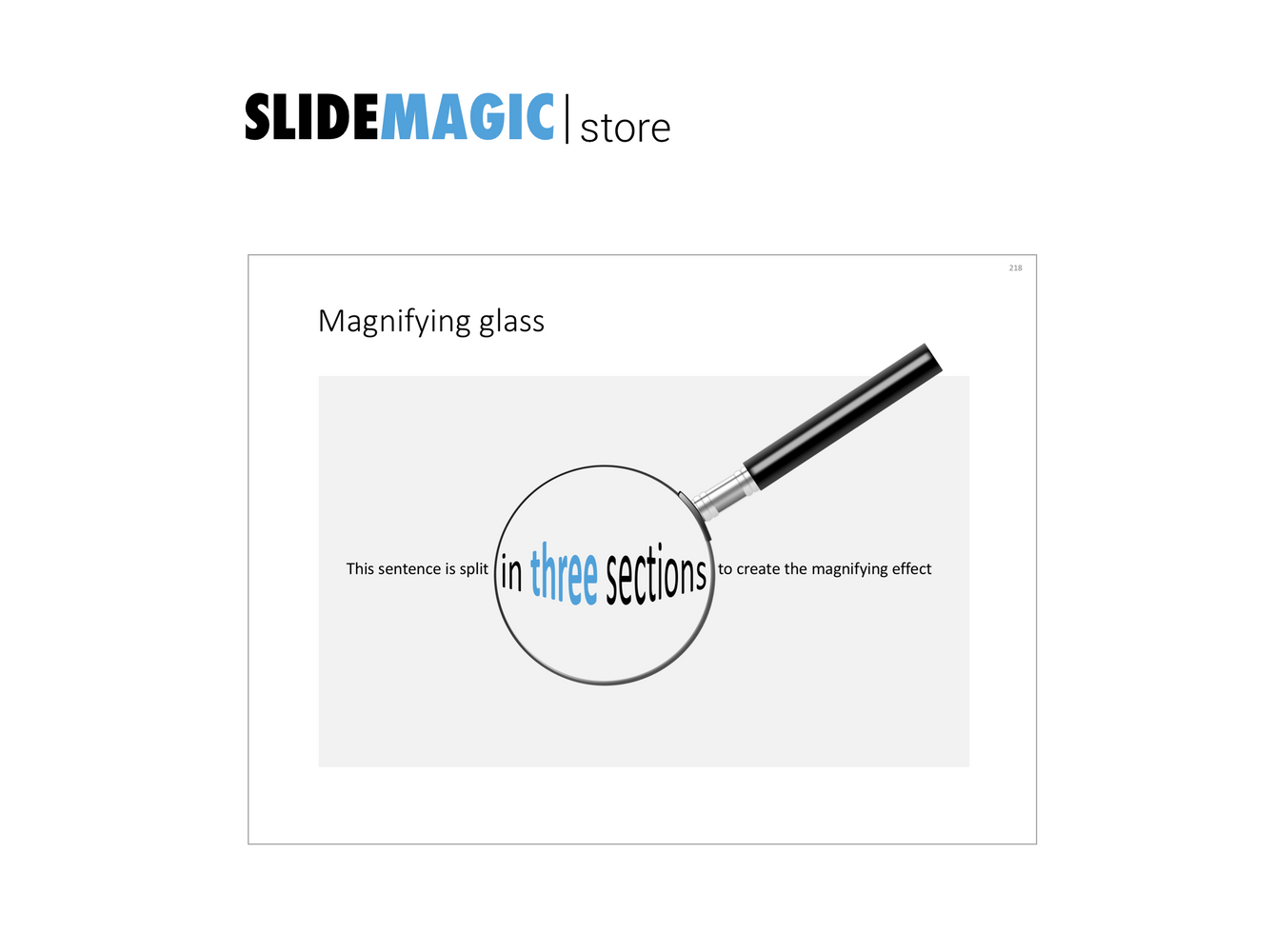 Magnifying glass in PowerPoint
