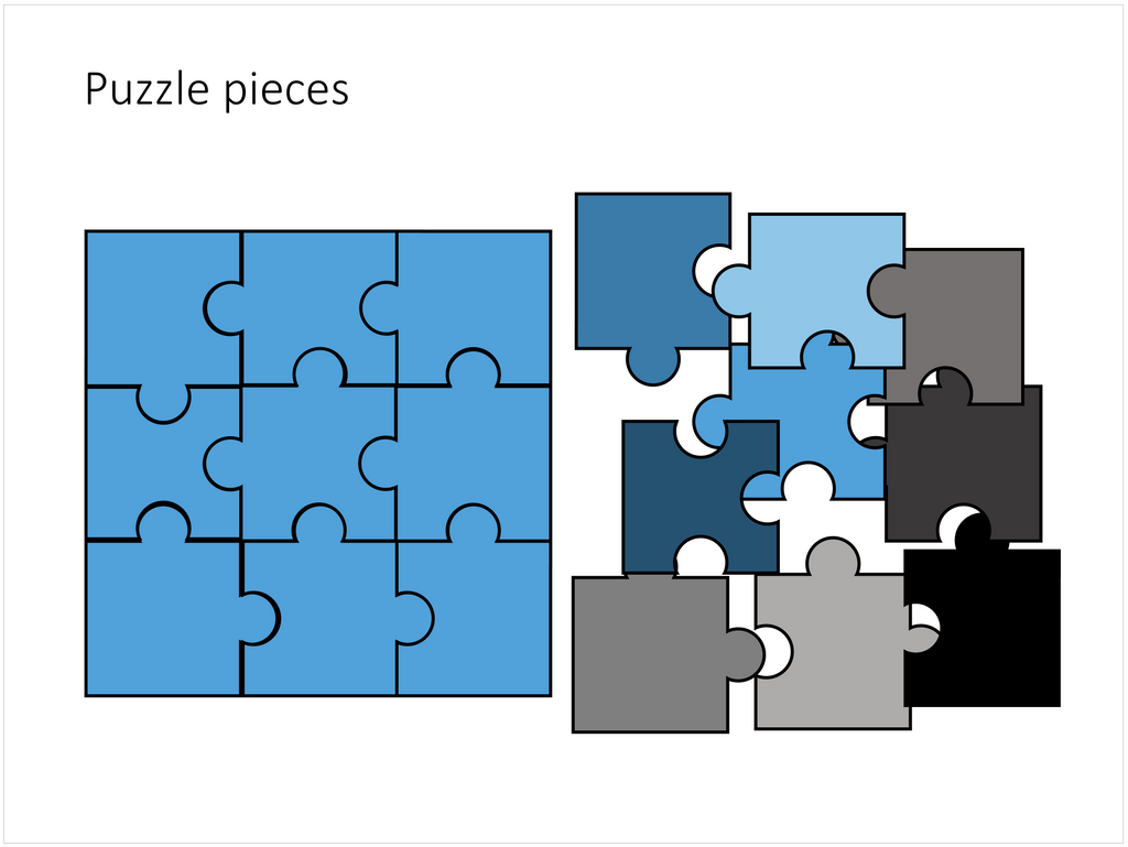 Puzzle pieces in PowerPoint – SlideMagic