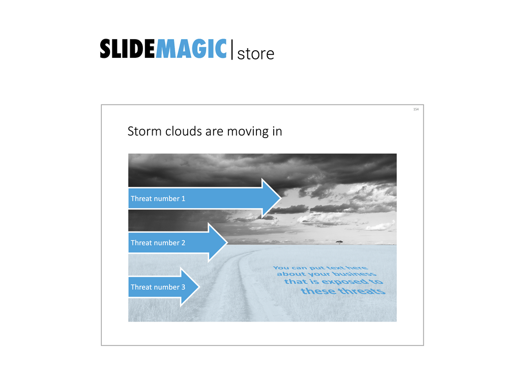Storm clouds in PowerPoint