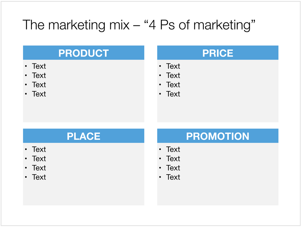Marketing mix in Apple Keynote