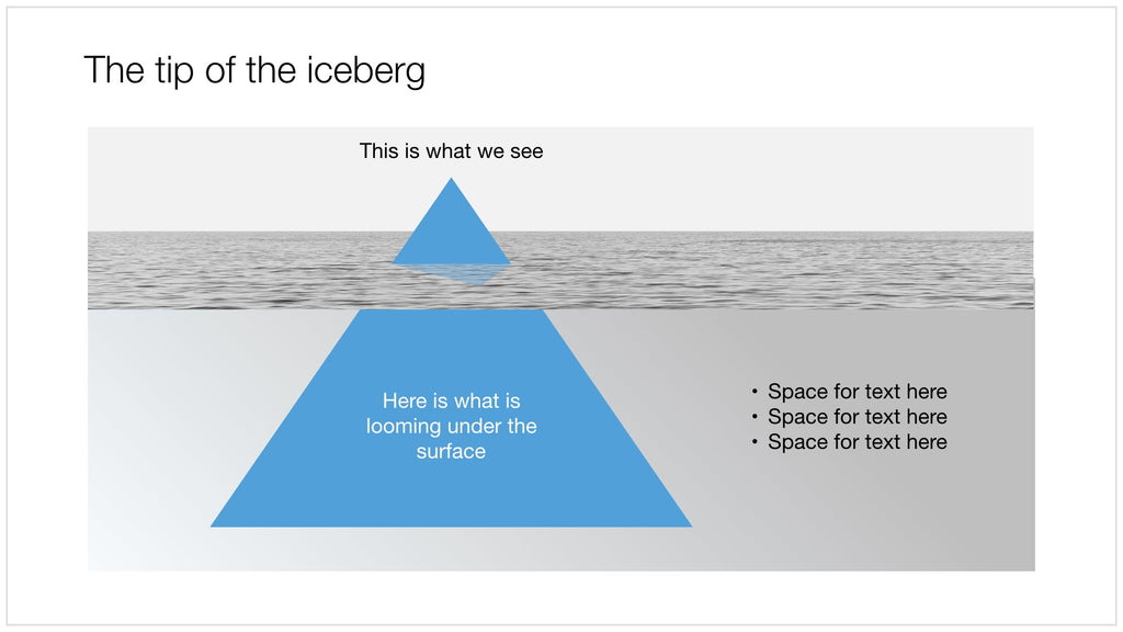 Tip of the iceberg in Apple Keynote