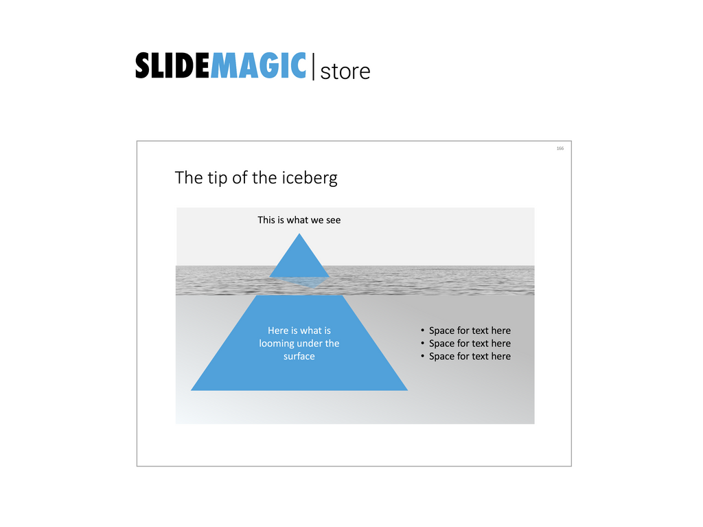 Tip of the iceberg in PowerPoint