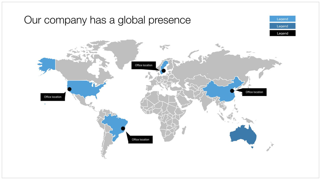 World map in Apple Keynote