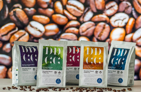 Decadent Decaf Coffee Company Swiss Water Decaf Decaffeinated Coffee Range No 3
