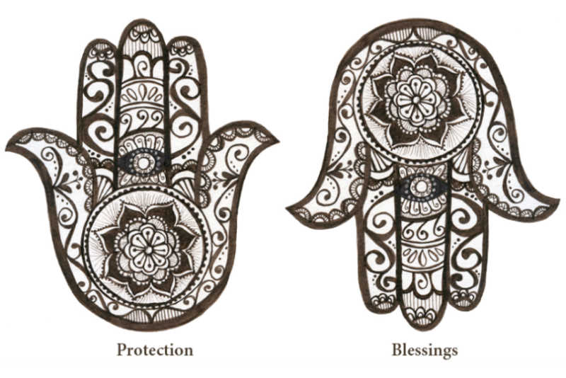 hamsa hands up and down meaning