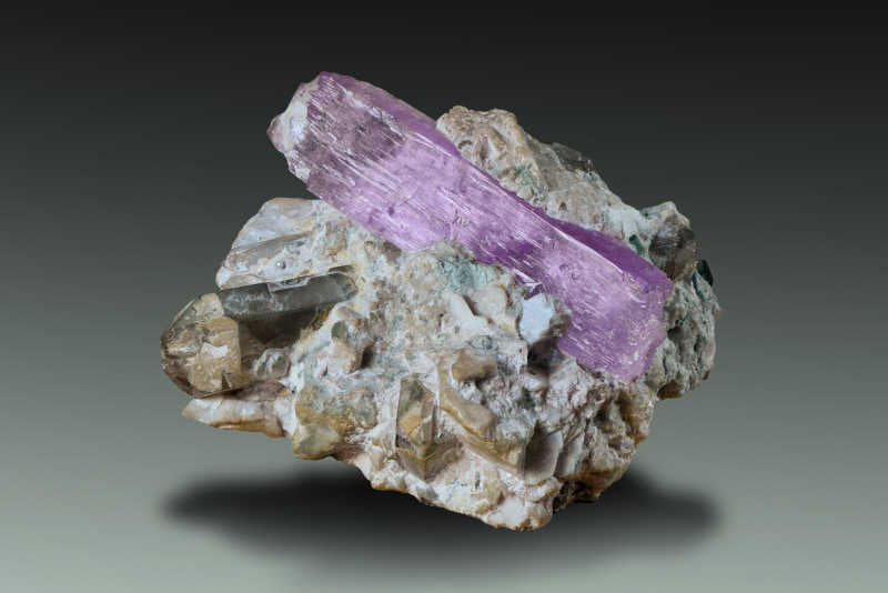Kunzite on matrix from Laghman province Afghanistan