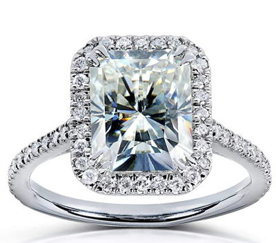 Kobelli Radiant-cut Moissanite Engagement Ring