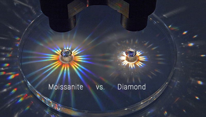 moissanite vs diamond brilliance