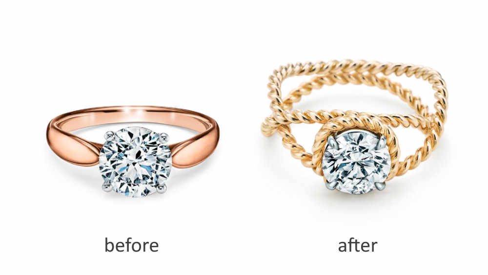 upgrade the setting of a diamond engagement ring