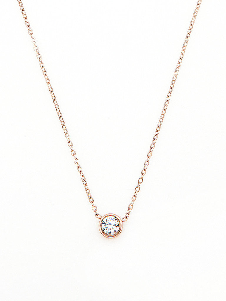 Crystal Bezel Necklace 1
