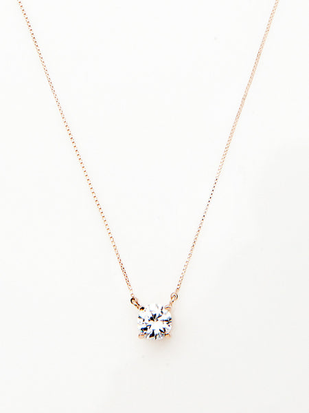 Crystal Solitaire Pendant Necklace 1