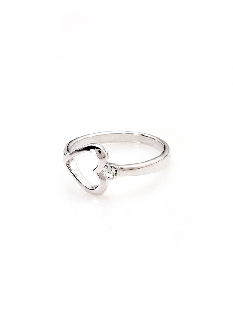 One Love Heart Ring - Silver 2