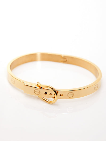 Buckle Bangle - Gold 1