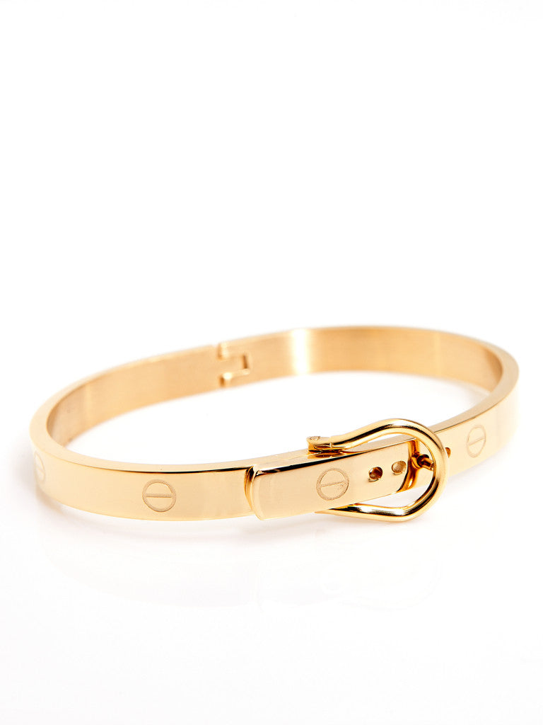 Buckle Bangle - Gold 2