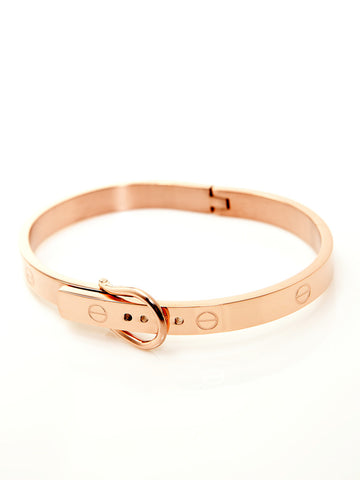Buckle Bangle - Rose Gold 1