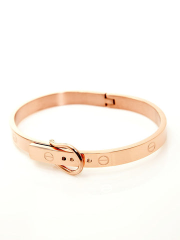 Buckle Bangle - Rose Gold