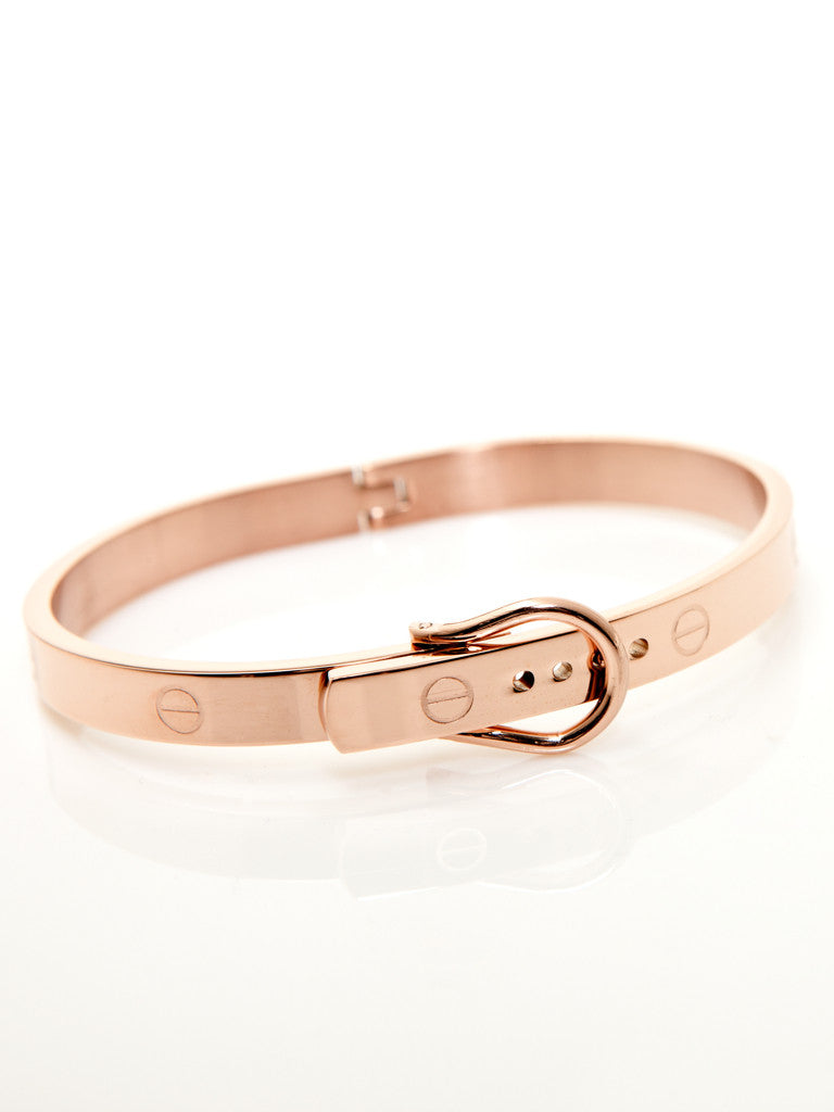 Buckle Bangle - Rose Gold 2
