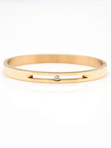 Floating Crystal Bangle - Gold 1