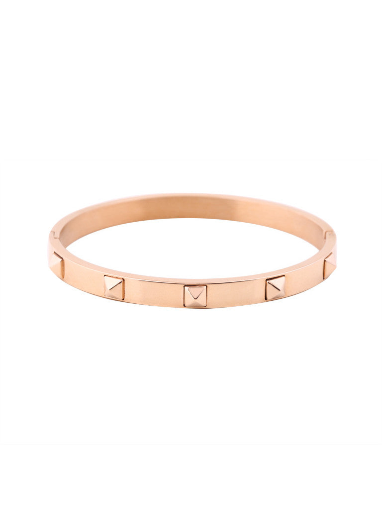 Metallic Stud Bangle - Rose Gold 1