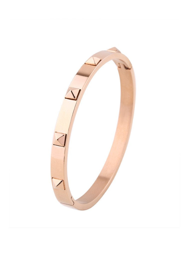 Metallic Stud Bangle - Rose Gold