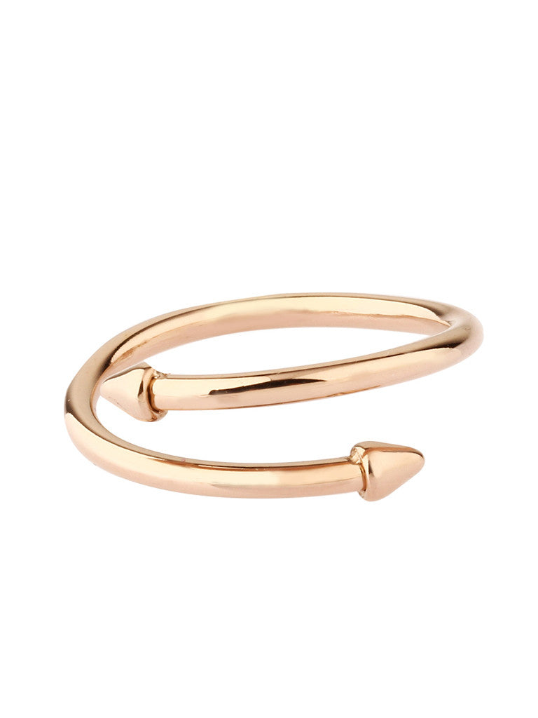 Tribal Twist Ring - Rose Gold