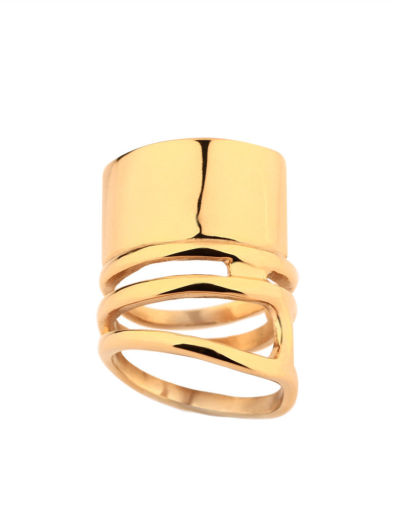 Coil Melt Ring - Gold 2