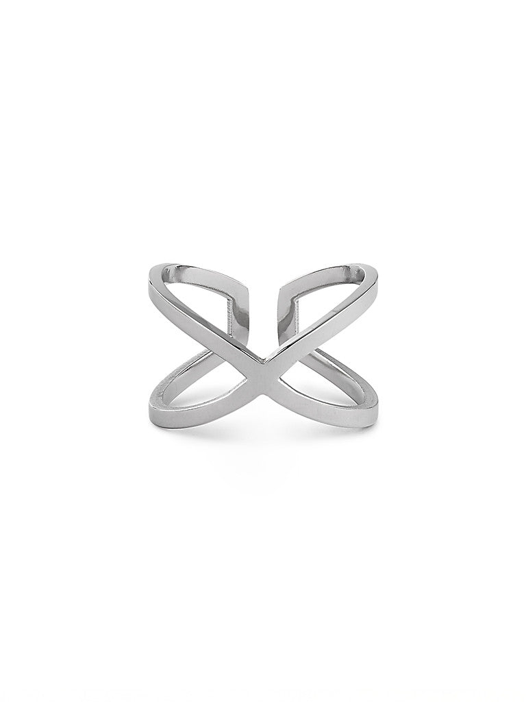 Cross Cuts Ring - Silver