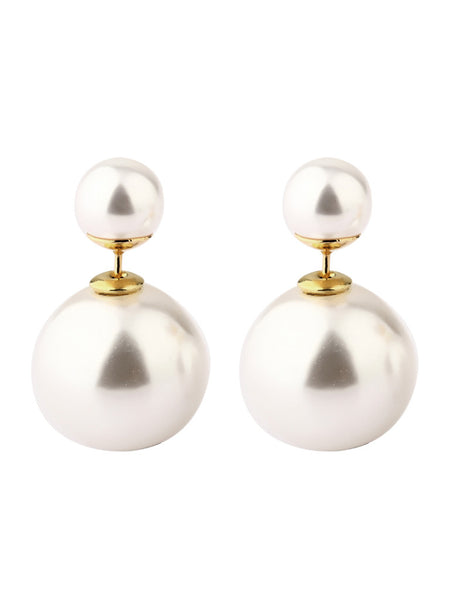 Audrey Pearl-Stud Earrings - Gold 1