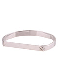 Screw Bar Bangle - Silver 1
