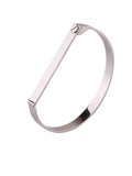 Screw Bar Bangle - Silver 2
