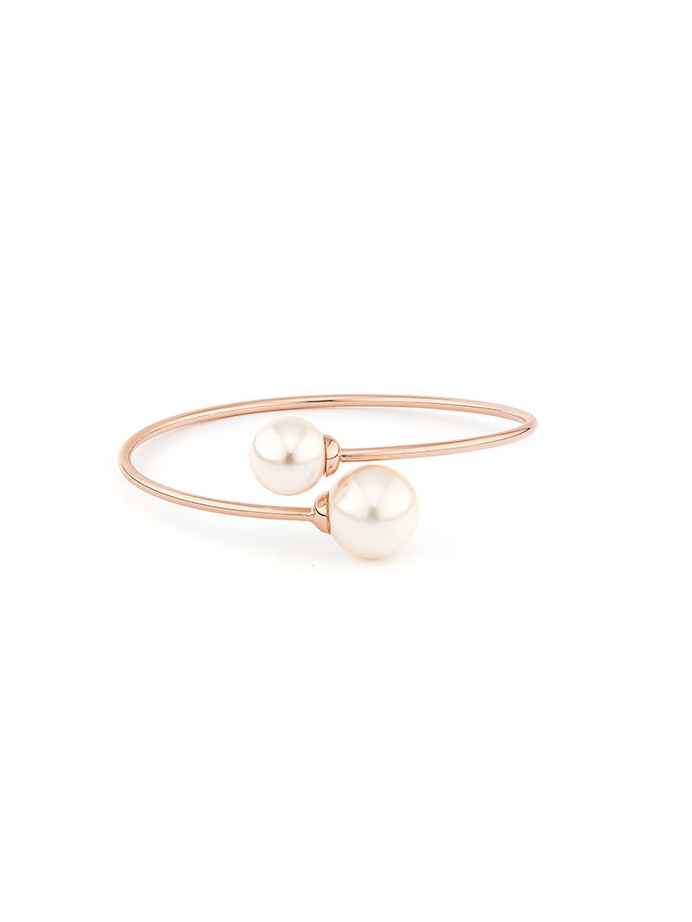 Pearl Embrace Bangle - Rose Gold 2