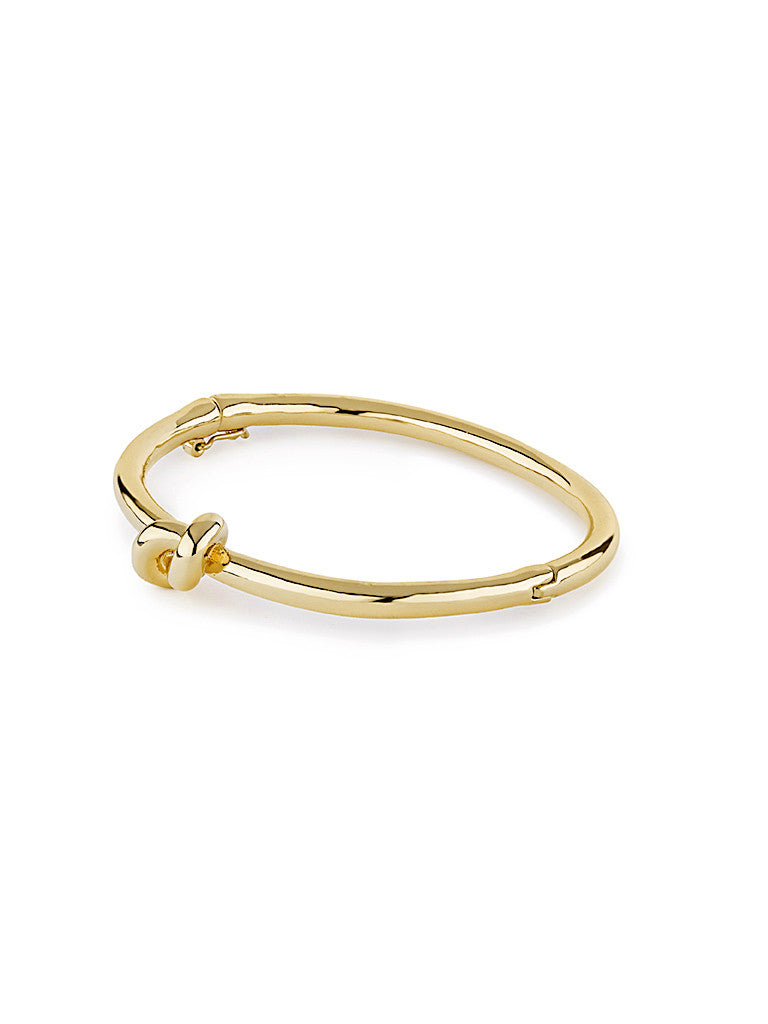 Metallic Knot Bangle - Gold 1