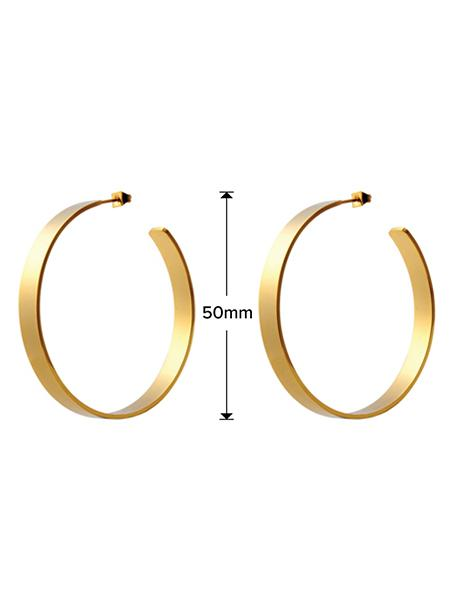 Matte Hoop Earrings - Gold