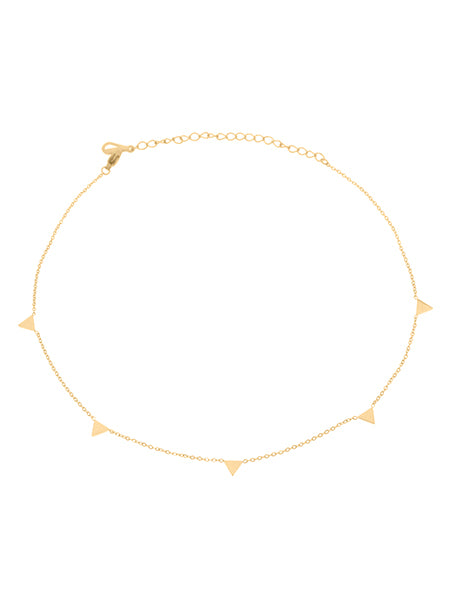 Dainty Triangle Choker - Gold