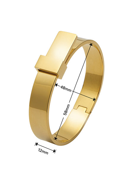 Luxe Ribbon Bangle - Gold