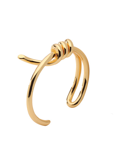 Metallic Twist Bangle - Gold